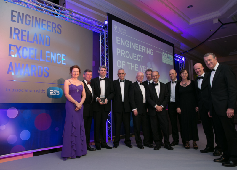 Image of Rosie Hackett Bridge voted Engineering Project of the Year